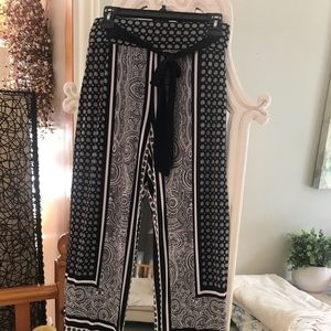 Palazzo pattern lightweight pants by INC. the Bay